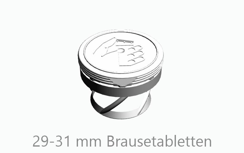 TR 33 SP OG (14-0121) für 29-31 mm ∅ Brausetabletten